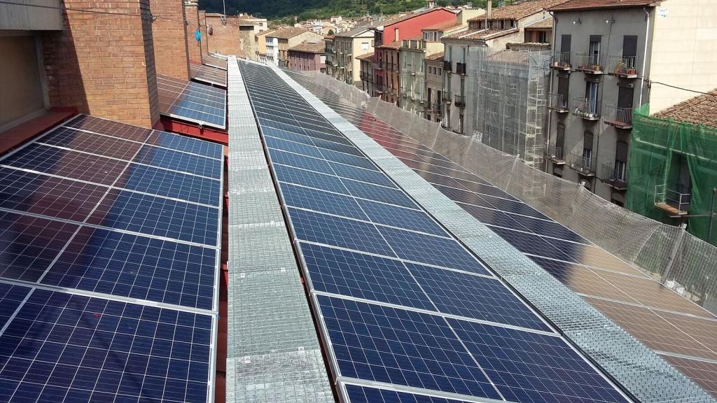 Solar power plant in Olot (Girona)