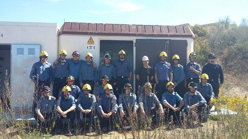 Visita del equipo especial de bomberos en Tarragona