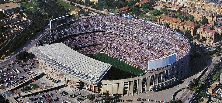 Audiovisual ring of the Camp Nou