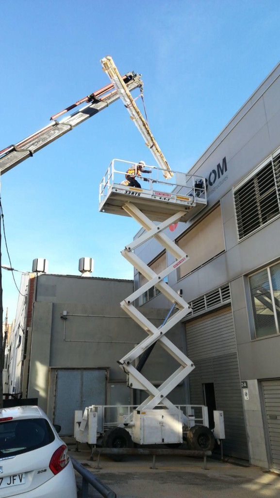 Photovoltaic installation in CONCOM S.A. Barcelona headquarters